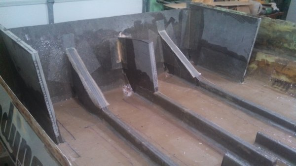 Composite Boat Stringers : Composite plywood hydrodyners